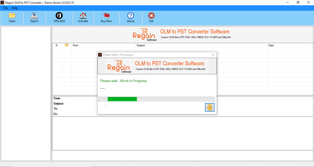 Transfer MAC OLM data to Outlook PST file